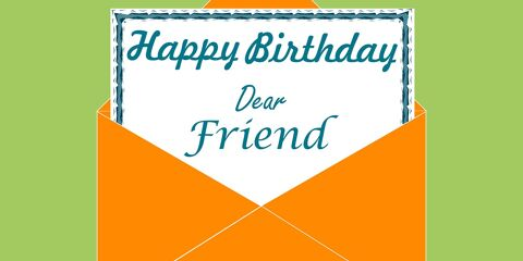 Happy Birthday Dear Friend Greeting 4