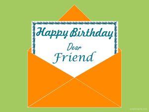 Happy Birthday Dear Friend Greeting 7