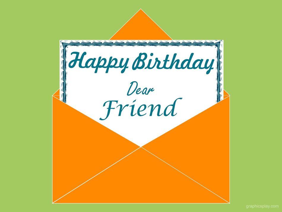 Happy Birthday Dear Friend Greeting 1