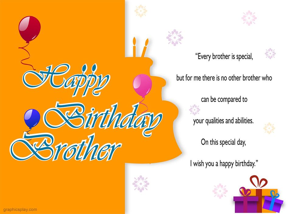 Happy Birthday Brother Greeting with Quotes 1