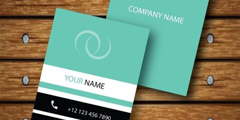 Vertical Business Card Design Vector Template - ID 1736 7