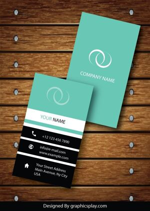 Vertical Business Card Design Vector Template - ID 1736 9