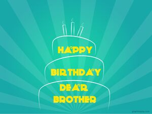 Happy Birthday Brother Simple Greeting 5