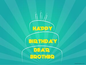 Happy Birthday Brother Simple Greeting 12