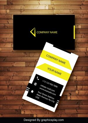Vertical Business Card Design Vector Template- ID 1742 8