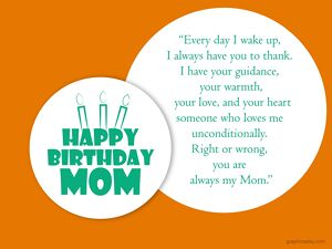 Happy Birthday Mom Greeting With Quotes 2