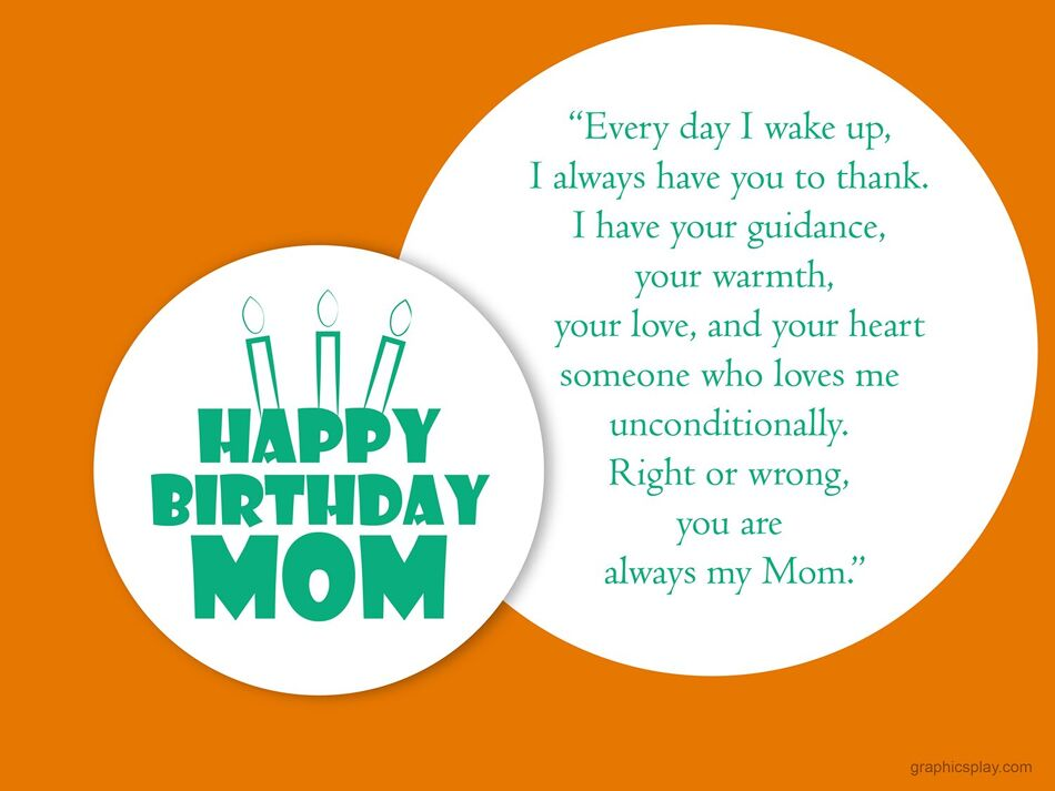 Happy Birthday Mom Greeting With Quotes 1