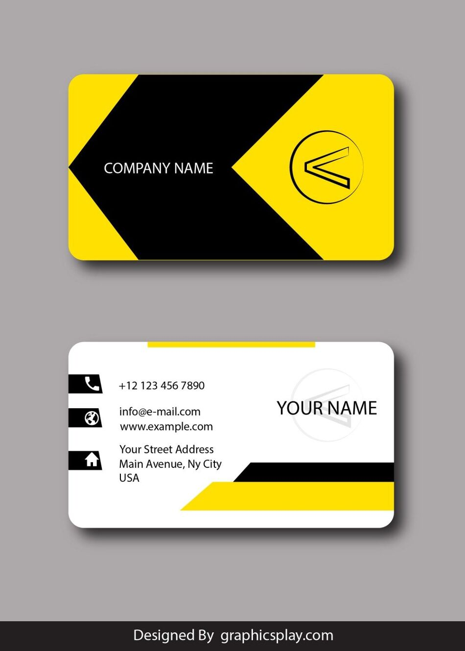 Business Card Design Vector Template - ID 1796 1