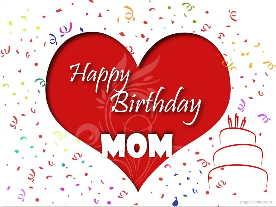 Happy Birthday Mom Greeting With Love 1