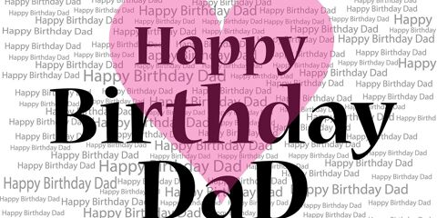 Happy Birthday Dad Greeting with Love 2