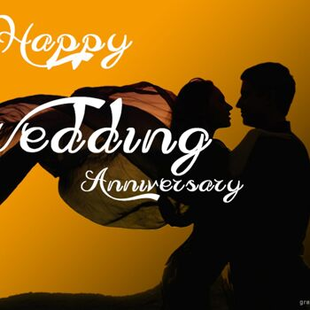 Happy Wedding Anniversary Greeting with Couple 1