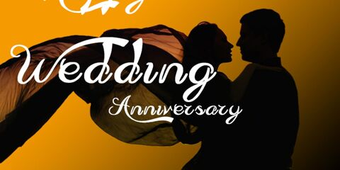 Happy Wedding Anniversary Greeting with Couple 5