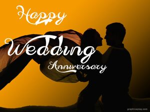 Happy Wedding Anniversary Greeting with Couple 4