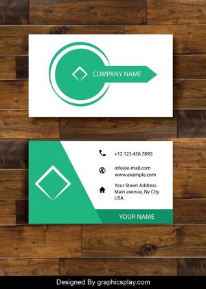 Business Card Design Vector Template - ID 1690 19