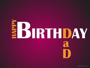Happy Birthday Dad Simple Greeting 18