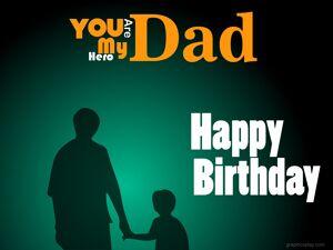 Happy Birthday Dad Greeting 17