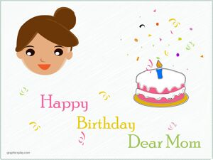 Happy Birthday Dear Mom Greeting 1