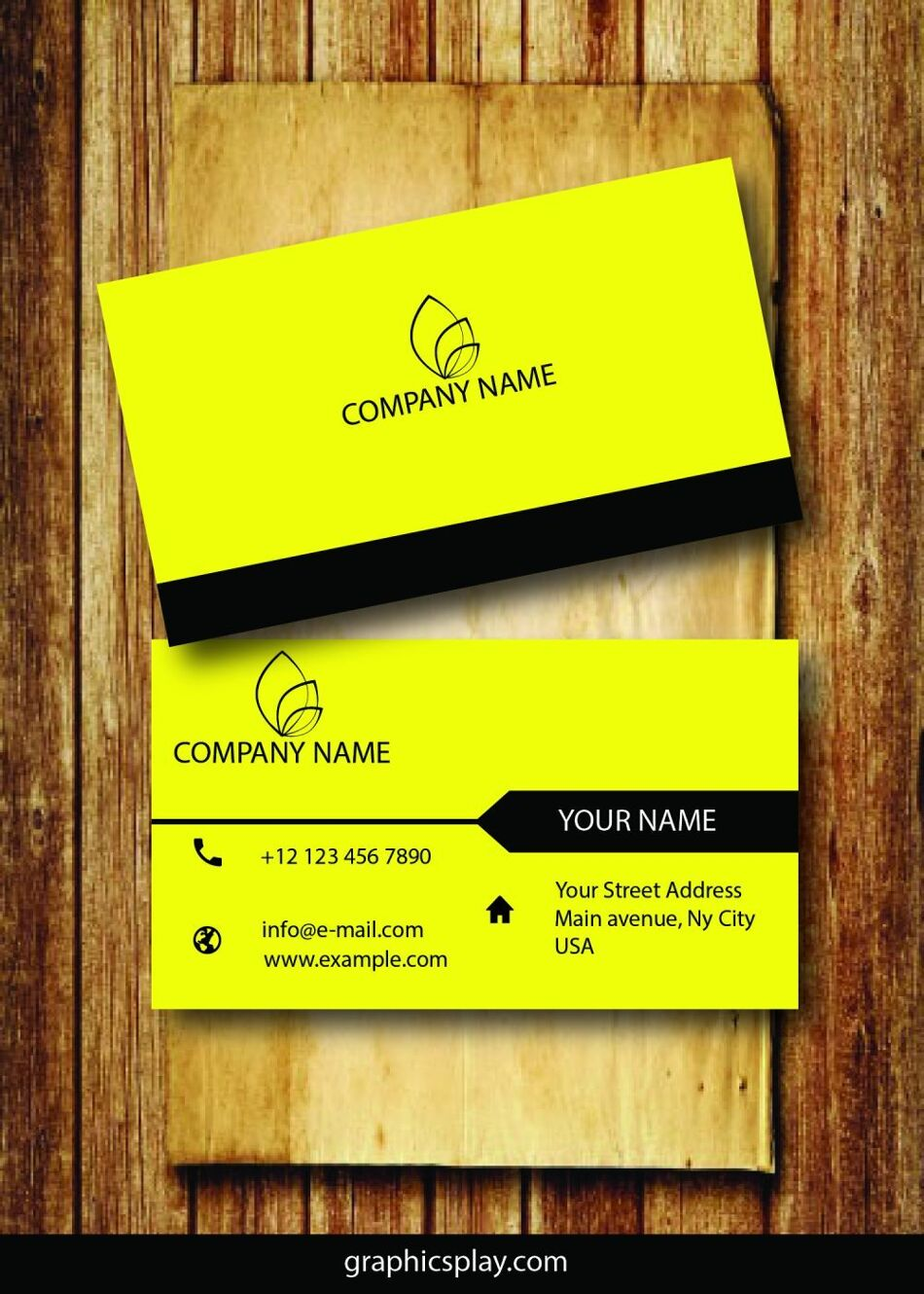 Business Card Design Vector Template - ID 1695 1