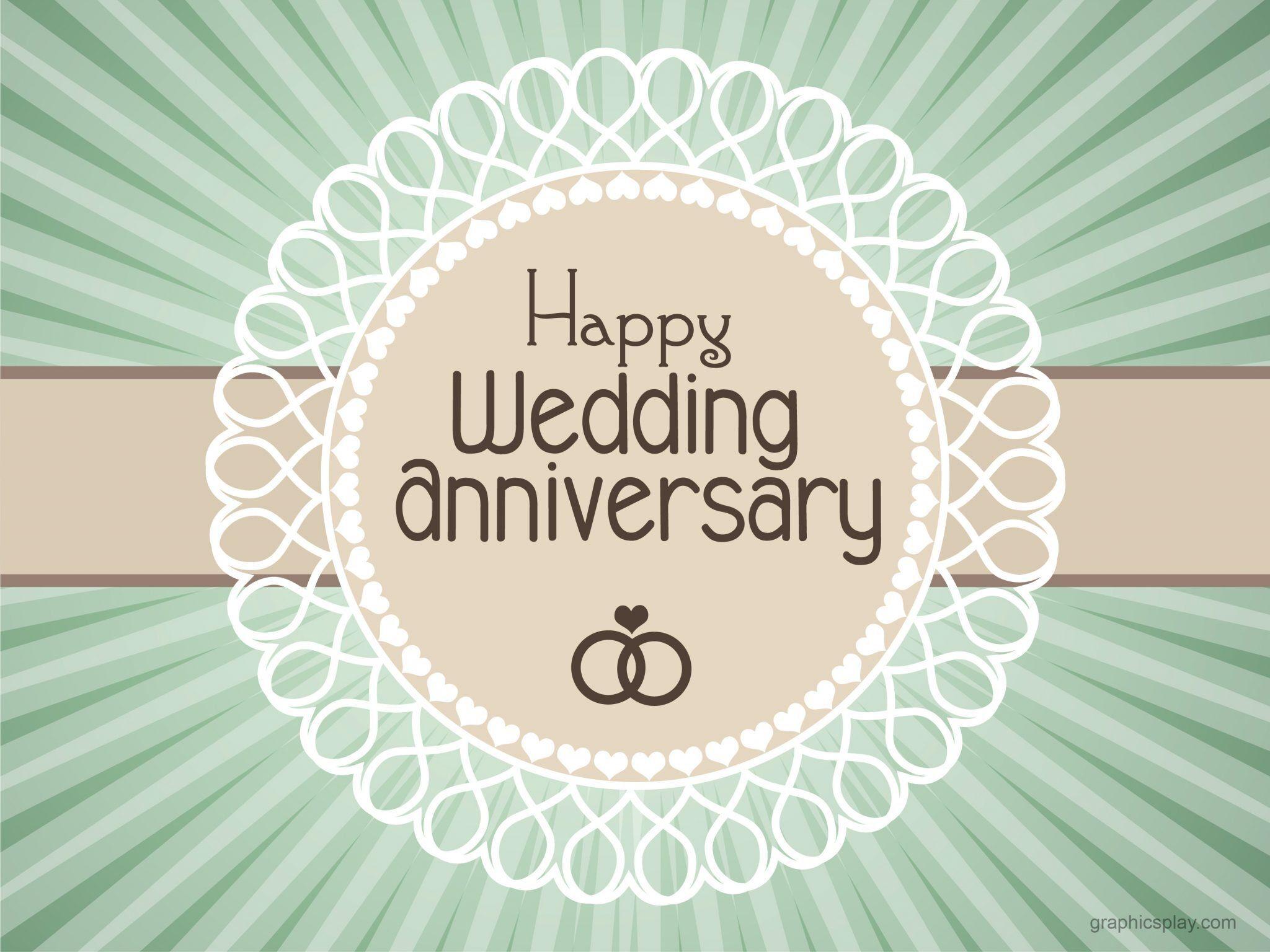 happy wedding anniversary simple greeting  graphicsplay