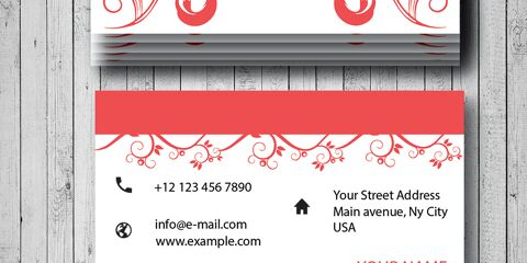 Business Card Design Vector Template - ID 1699 2
