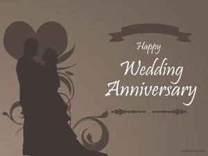 Happy Wedding Anniversary Beautiful Greeting 1