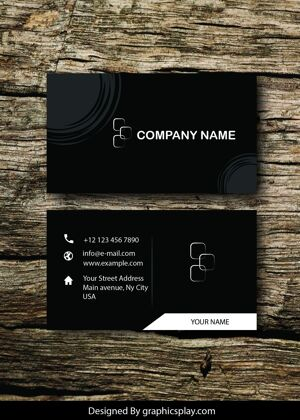 Business Card Design Vector Template - ID 1706 16