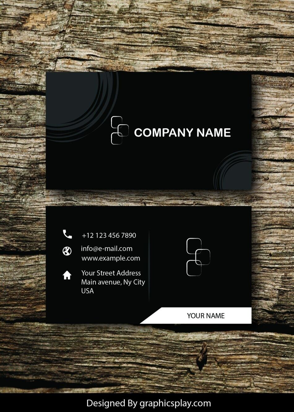 Business Card Design Vector Template - ID 1706 1