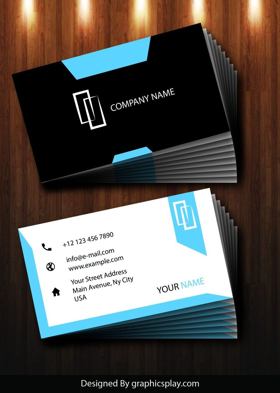 Business Card Design Vector Template - ID 1725 1