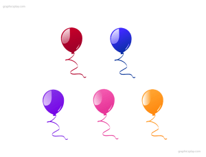 Beautiful Balloon Vector and PNG 1