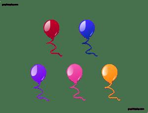Beautiful Balloon Vector and PNG 1