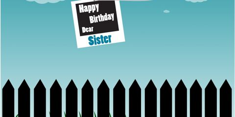 Happy Birthday Dear Sister Greeting 8