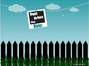 Happy Birthday Dear Sister Greeting 14