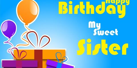 Happy Birthday Sweet Sister Greeting 4