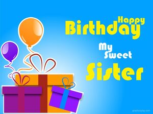 Happy Birthday Sweet Sister Greeting 11