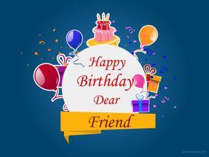 Happy Birthday Dear Friend Greeting 9