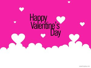 Happy Valentines Day Greeting Pink 20