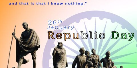 Indian Republic Day Greeting With 9