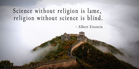Albert Einstein's Quote about Science and Religion 9