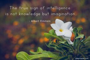 Albert Einstein's Quote about Imagination 2