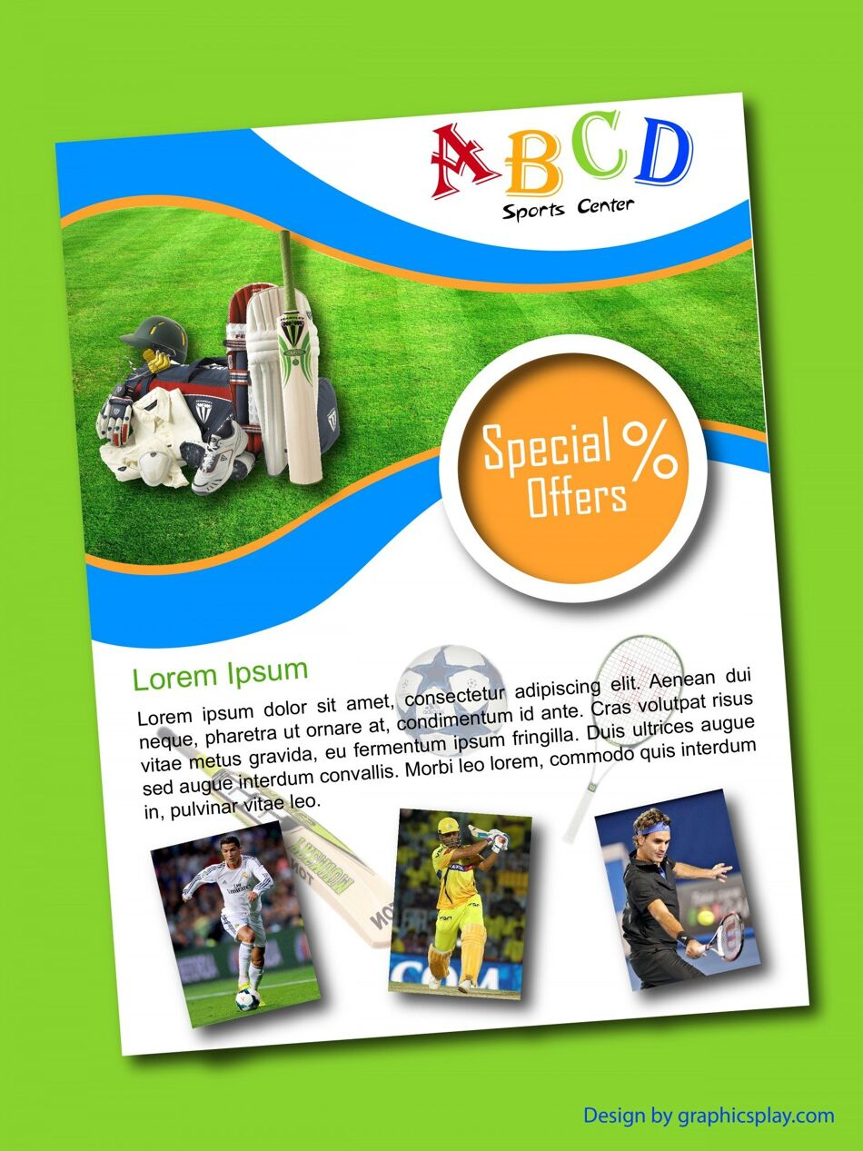 Sports Shop Flyer Design Template ID - 3183 1