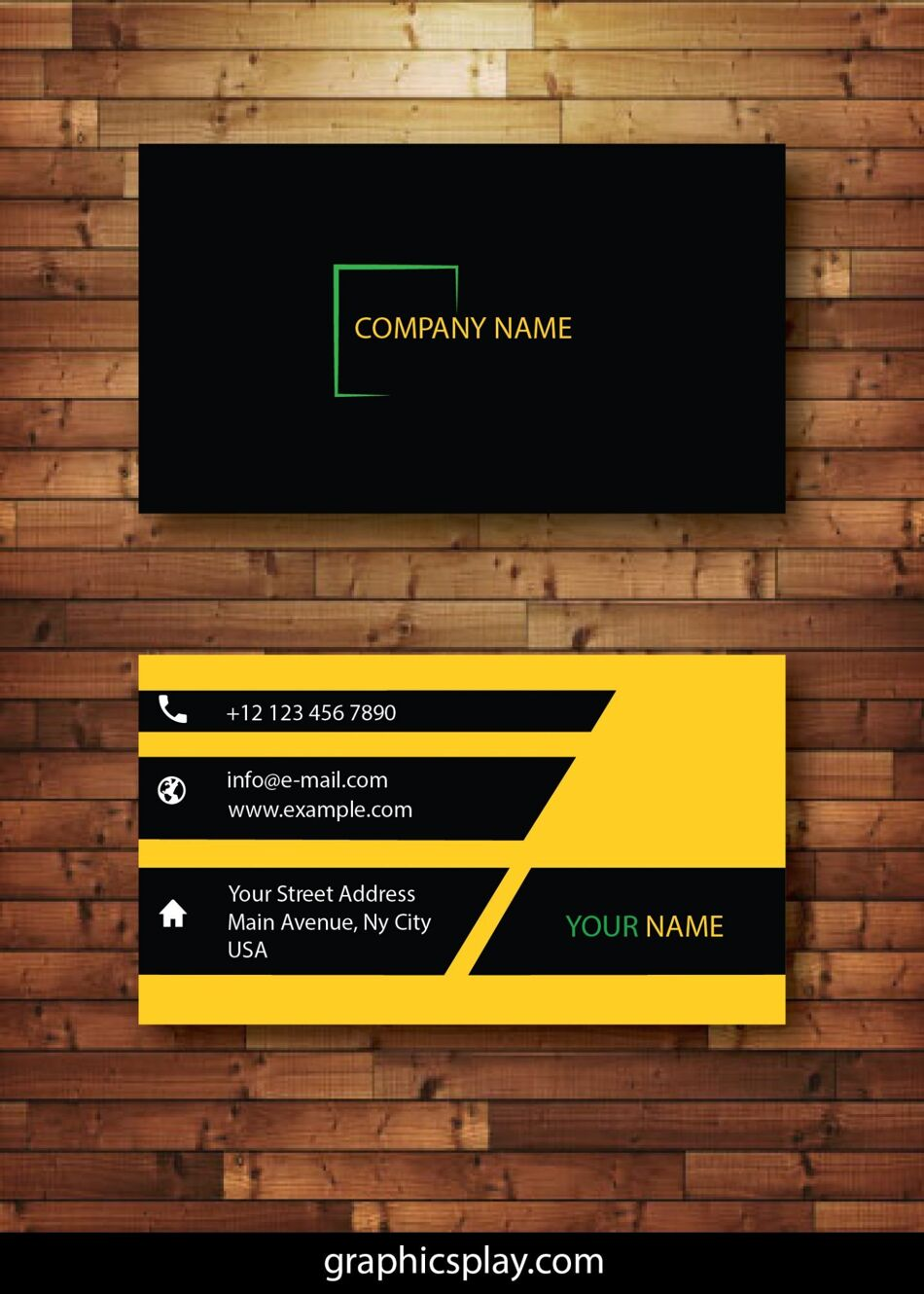 Business Card Design Vector Template - ID 4144 1